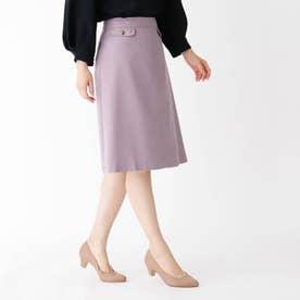 【大きいサイズあり・13号】ボタンフラップスカート (ベビーピンク)