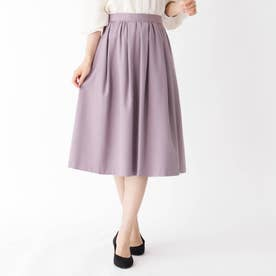 【大きいサイズあり・15号~21号】タックウールギャザースカート (ベビーピンク)