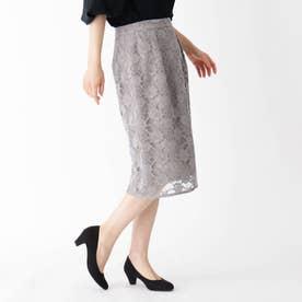 【大きいサイズあり・13号】微起毛スカラレーススカート (グレージュ)