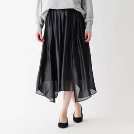 シフォンチンツヘムスカート (ブラック)