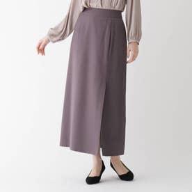 【大きいサイズあり・13号】INNOWAVE エクストラファインクロス ラップ風スカート (タバコブラウン)