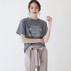 【大きいサイズあり・13号・15号】ロゴTシャツ (カーキ)