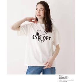SOUP×PEANUTSコラボTシャツ (オフホワイト)