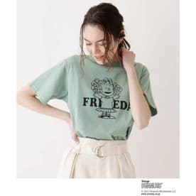 SOUP×PEANUTSコラボTシャツ (ライトグリーン)