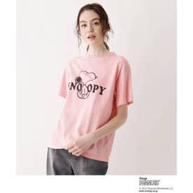 SOUP×PEANUTSコラボTシャツ (ピンク)