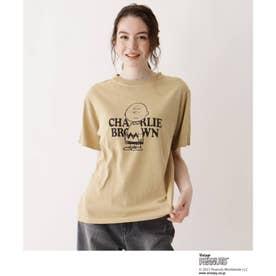 SOUP×PEANUTSコラボTシャツ (ブラウン)