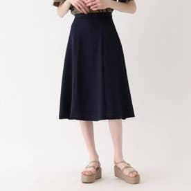 【大きいサイズあり・13号】麻調ダイアゴナルスカート (ネイビー)