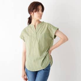 INNOWAVE スキッパーブロードシャツ (ライトグリーン)