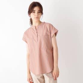 INNOWAVE スキッパーブロードシャツ (オレンジ)
