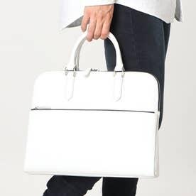 レザー薄マチビジネスバッグ (ホワイト)