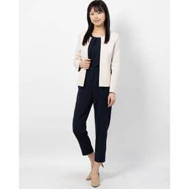 ロング丈ジャケットの3点セットカラーパンツスーツ(130116652) (ベージュ)