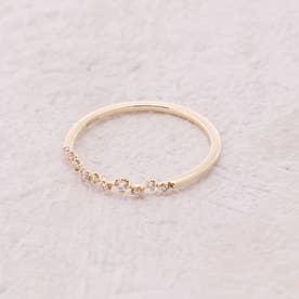 【K18・ダイヤモンド】つぶきらコレクション リング (ゴールド)