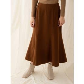 ビーバーナローウールスカート (ブラウン)