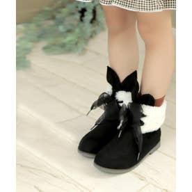 ラビットモチーフショートブーツ (KIDS) (ブラック)