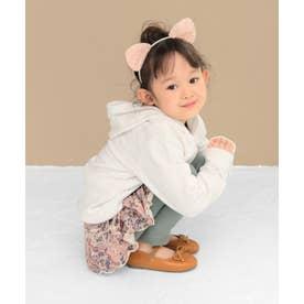 【ママとお揃い】16-18cm ゴム付き バレエシューズ (KIDS) (キャメル)