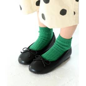 【ママとお揃い】19-22cm バレエシューズ (KIDS) (ブラック)