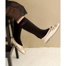 【ママとお揃い】シャーリングデザインフラットバレエシューズ (KIDS) (ゴールド)