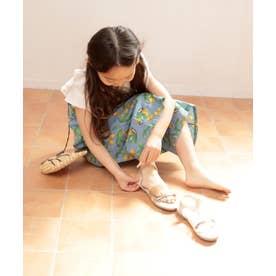 【ママとお揃い】PVC素材のメニ―ストラップサンダル (KIDS) (アイボリー)