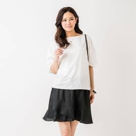 【スーン】サマーフリルスカート(ブラック) (ブラック)