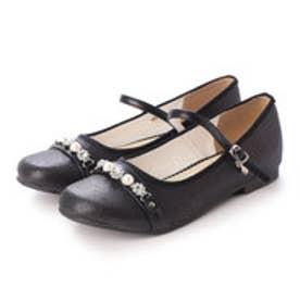 ジュニア (キッズ・子供) 短靴 キラキラビジューストラップパンプス KG3004 8050