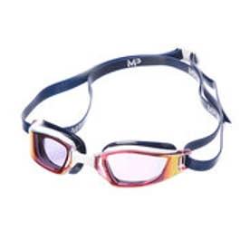 水泳 ゴーグル/小物 エクシード チタニウムレッドミラーレンズ ホワイト/ブルー 139230