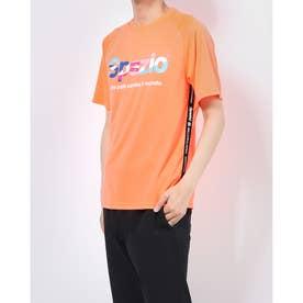 メンズ サッカー/フットサル 半袖シャツ 接触冷感ロゴテーププラシャツ GE-0694