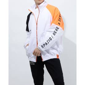 メンズ サッカー/フットサル フルジップ トラックジャケット(裏メッシュ) TP-0580 (ホワイト)
