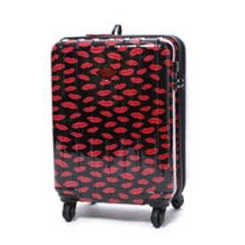 スーツケース 36L拡張機能付トラベルハードキャリー (ブラック&レッド)