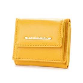 シンプルライン3つ折り財布 (マスタード)