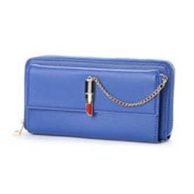口紅型金具付き長財布 (ブルー)