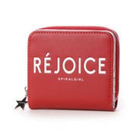 ロゴプリント入り2つ折り財布 (レッド)