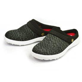 サボサンダル メンズ スリッポン クロッグサンダル 2way 軽量 メッシュ 靴 シューズ (ブラック)