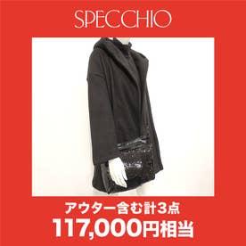 【2021年福袋】HAPPY BAG(コート入り 3点セット) (ブラック)【返品不可商品】