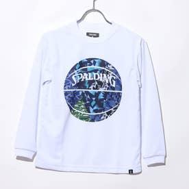 ジュニア バスケットボール 長袖Tシャツ ジュニアL/STシャツ ミックカモボール SJT201680 (ホワイト)