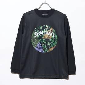 ジュニア バスケットボール 長袖Tシャツ ジュニアL/STシャツ ミックカモボール SJT201680 (ブラック)