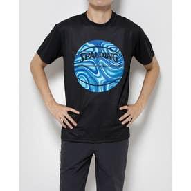 ジュニア バスケットボール 半袖Tシャツ Tシャツ ネオンマーブルボール SMT201070 (ブラック)