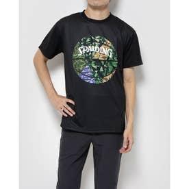 ジュニア バスケットボール 半袖Tシャツ Tシャツ ミックカモボール SMT201100 (ブラック)