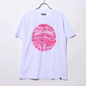 バスケットボール 半袖Tシャツ Tシャツ ネオンマーブルボール SMT201070 (ホワイト)