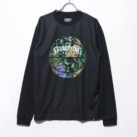バスケットボール 長袖Tシャツ L/STシャツ ミックカモボール SMT201110 (ブラック)