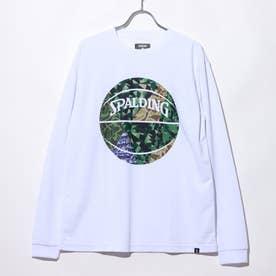 バスケットボール 長袖Tシャツ L/STシャツ ミックカモボール SMT201110 (ホワイト)