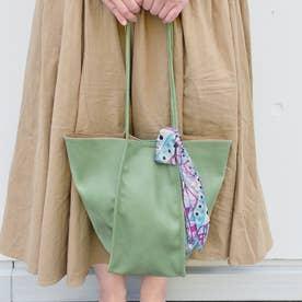 Allongee【アロンジェ】スカーフ付きトートバッグ (ライトグリーン)