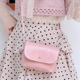 PUレザーミニシンプルショルダーバッグ (ピンク)