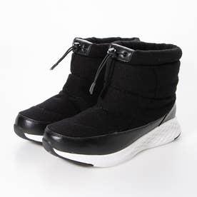 防水ソール軽量スニーカーブーツ (ブラック)