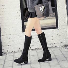 スエードロングブーツ (ブラック)