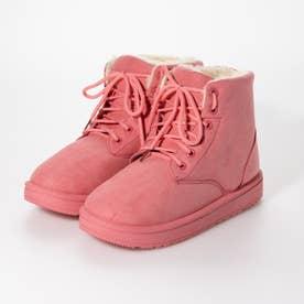 内ボアレースアップブーツ (ピンク)
