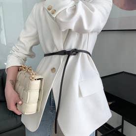 牛革細ベルト (コーヒー)