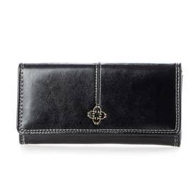 レザータッチ長財布 (ブラック)