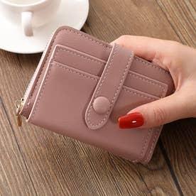 二つ折りミニ財布 (ピンク)