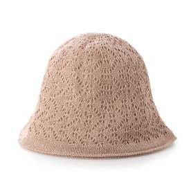 リバーシブルかぎ針編みハット (ピンク)
