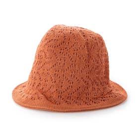 リバーシブルかぎ針編みハット (レッド)